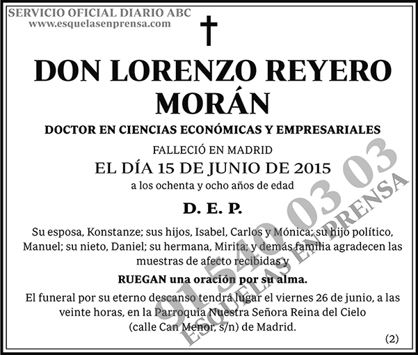 Lorenzo Reyero Morán